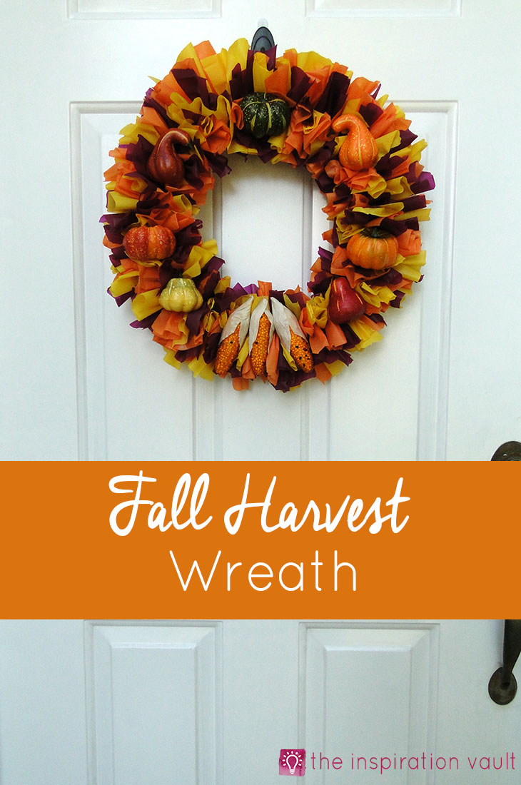 Fall Harvest Wreath Decor Craft Tutorial