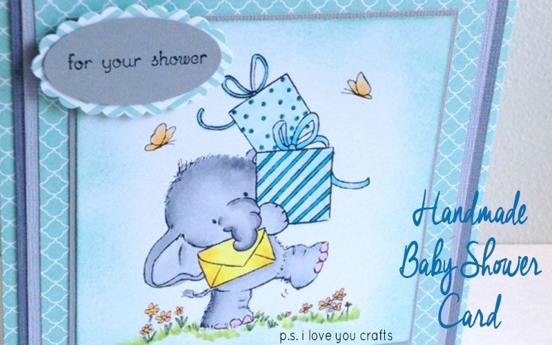 Handmade Baby Shower Card Slider