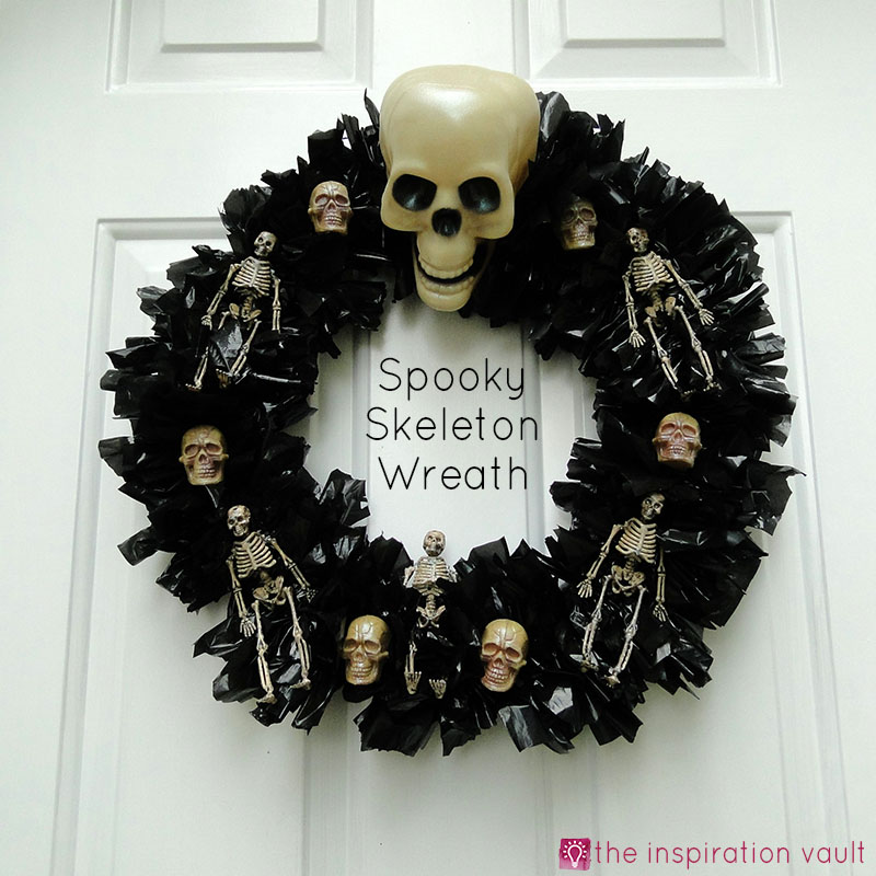 Spooky Skeleton Wreath Feature Image