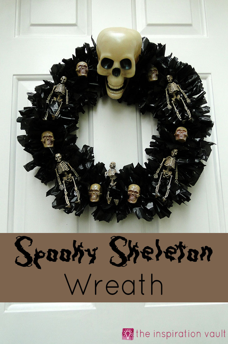 Spooky Skeleton Wreath Halloween Craft Tutorial