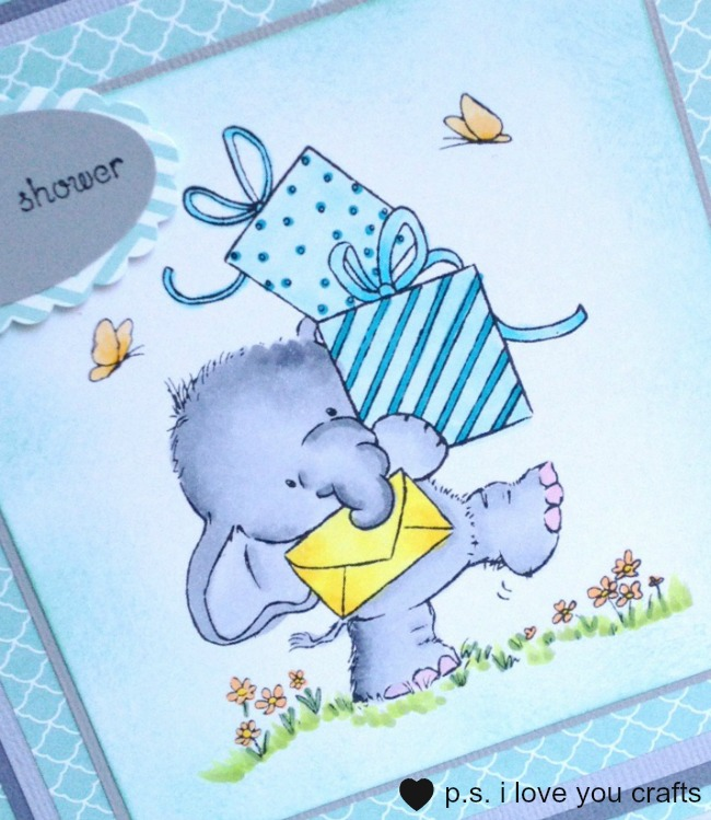 Handmade Baby Shower Card Elephant The Inspiration Vault