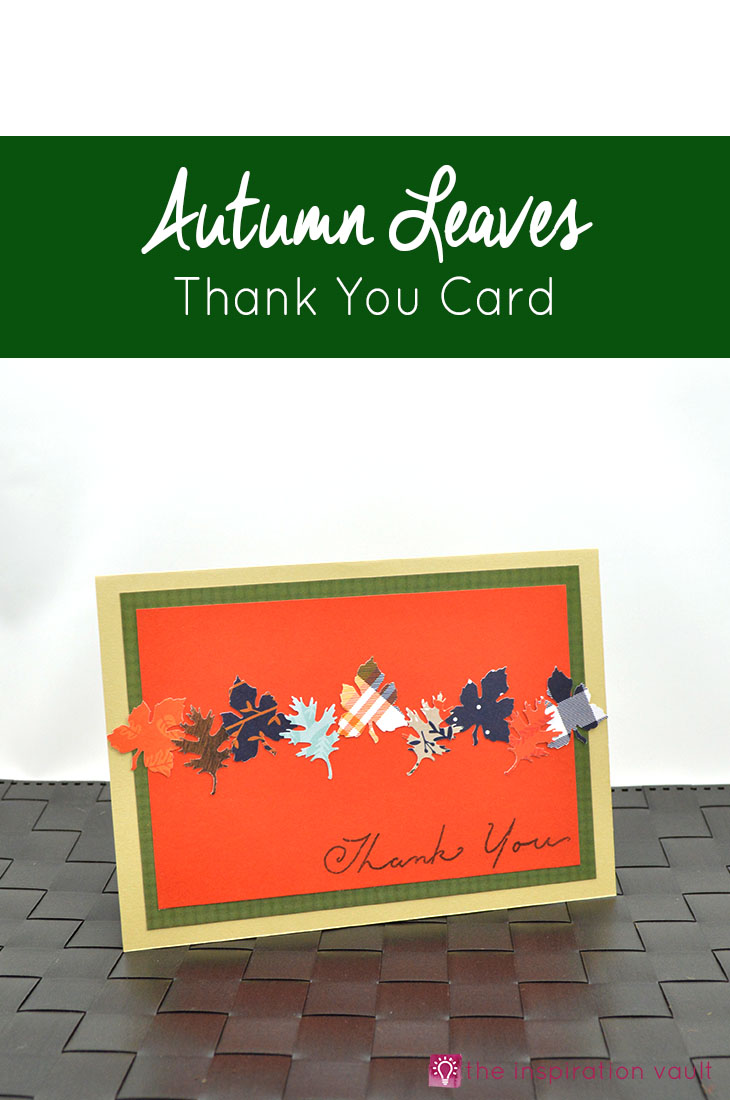 Autumn Leaves Thank You Card Craft Tutorial For Handmade Card