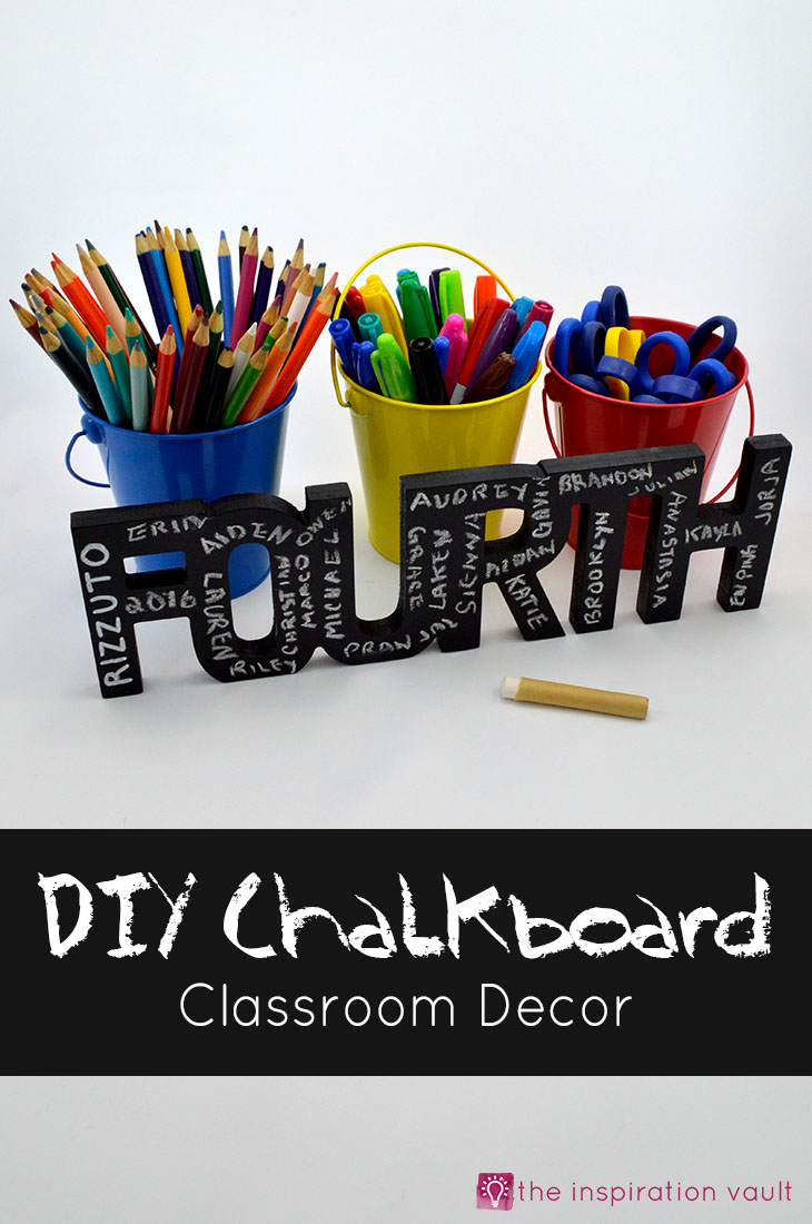 DIY Chalkboard Classroom Decor Craft Tutorial Teacher Appreciation