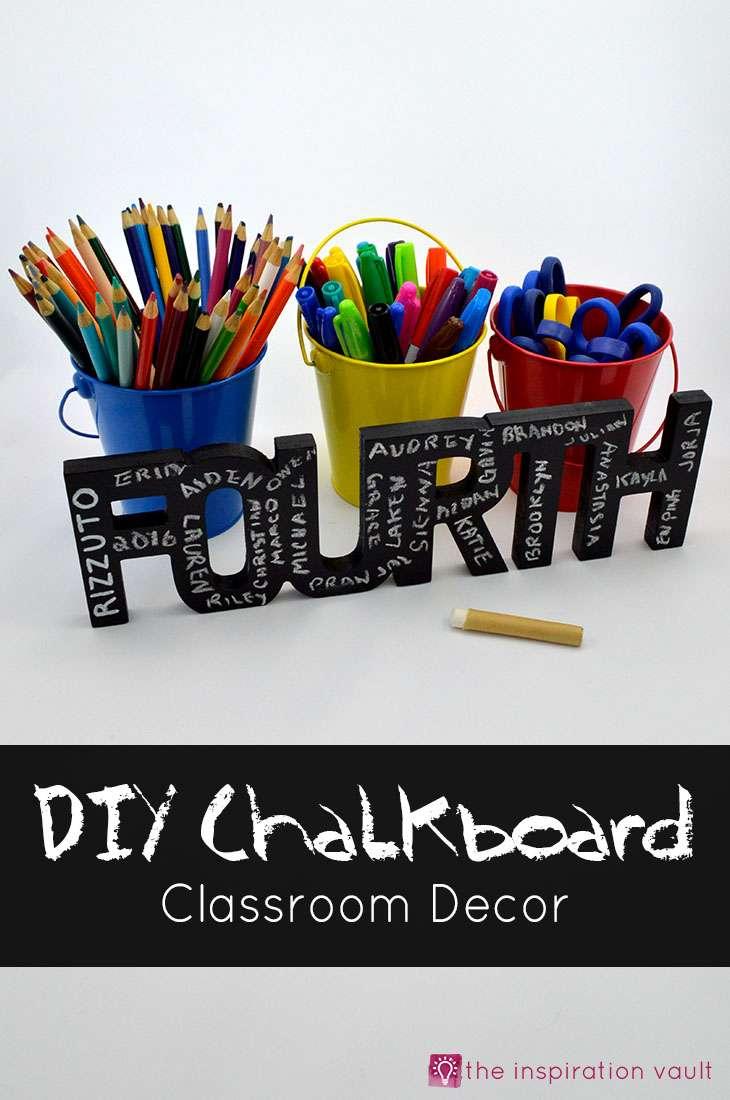 DIY Chalkboard Classroom Decor Craft Tutorial Teacher Appreciation