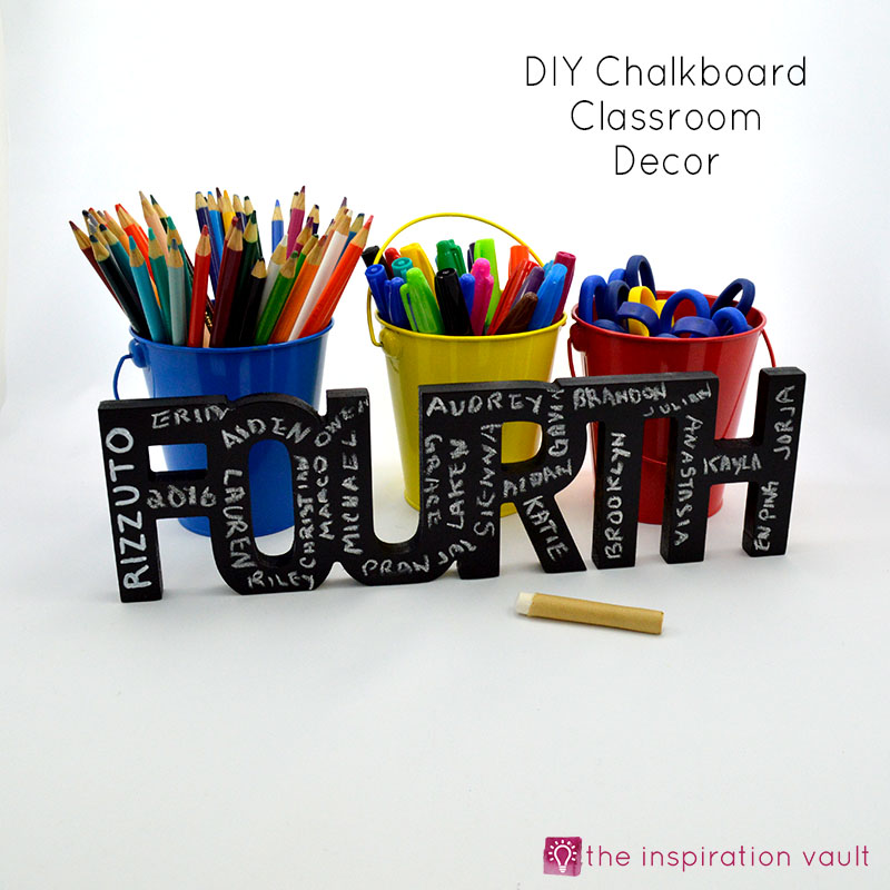 How do you make a christmas decoration - Diy Chalkboard Classroom Decor The Inspiration Vault