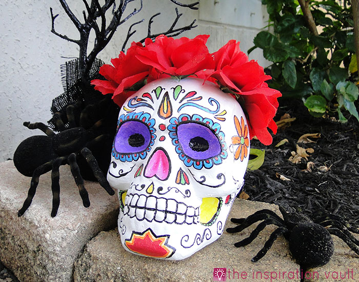 DIY Sugar Skull Completed
