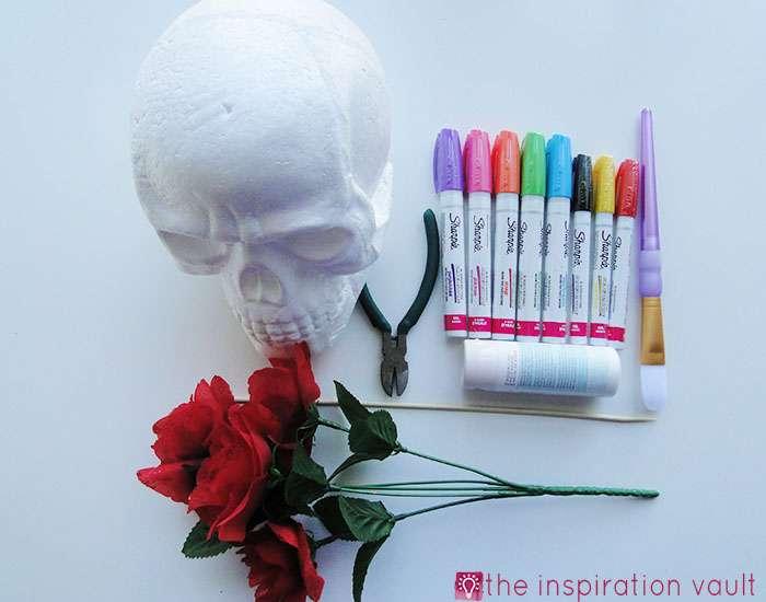 DIY Sugar Skull Materials
