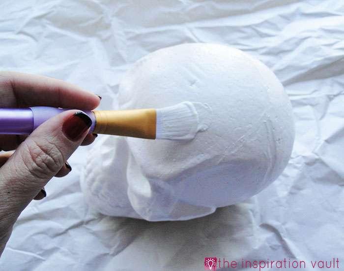 DIY Sugar Skull Step 1