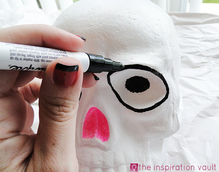 DIY Sugar Skull Step 3