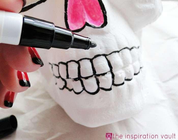DIY Sugar Skull Step 5