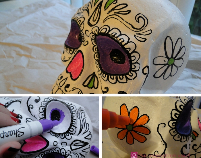 DIY Sugar Skull Step 7