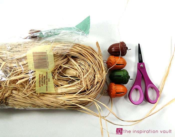 easy-raffia-accent-fall-napkin-rings-materials