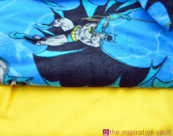 Fabric Stash Excavation Batman Fleece