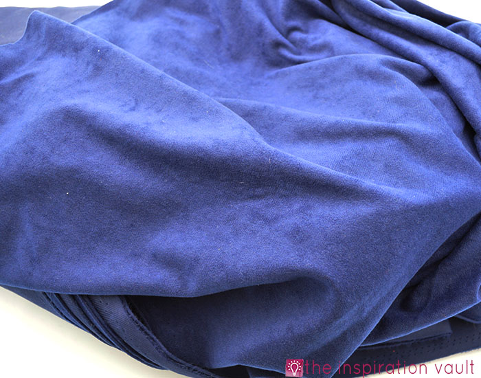 Fabric Stash Excavation Blue Velour