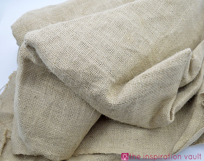 Fabric Stash Excavation Burlap