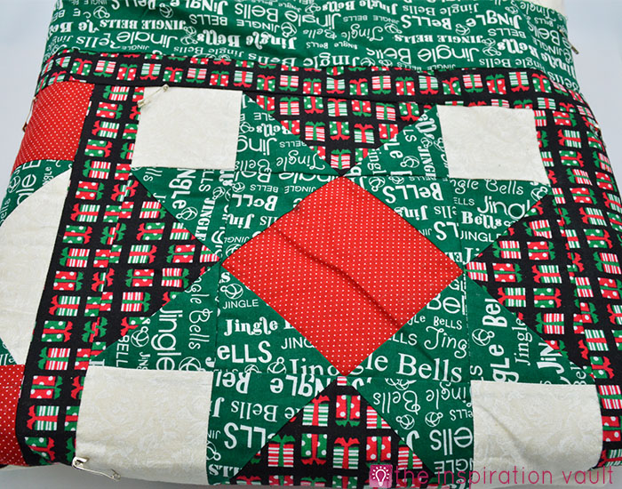 Fabric Stash Excavation Christmas Quilt