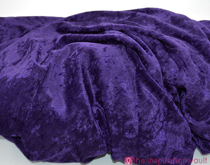 Fabric Stash Excavation Purple Velour