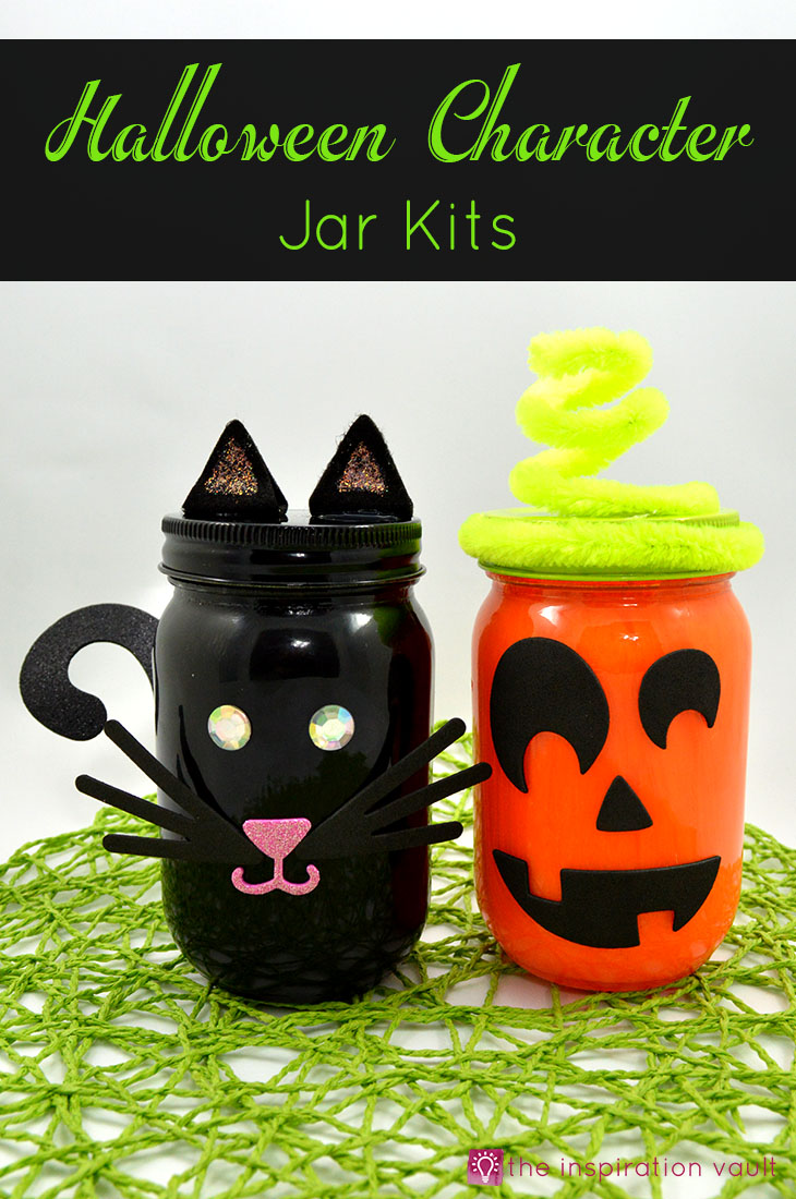 Halloween Character Jar Kits Craft Tutorial