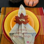 Sparkly Fall Leaf Napkin Rings