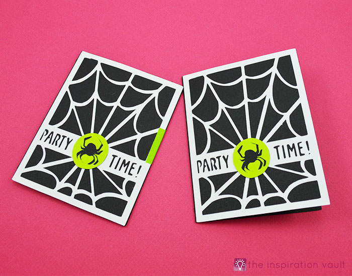 Spiderweb Halloween Party Invitations Complete