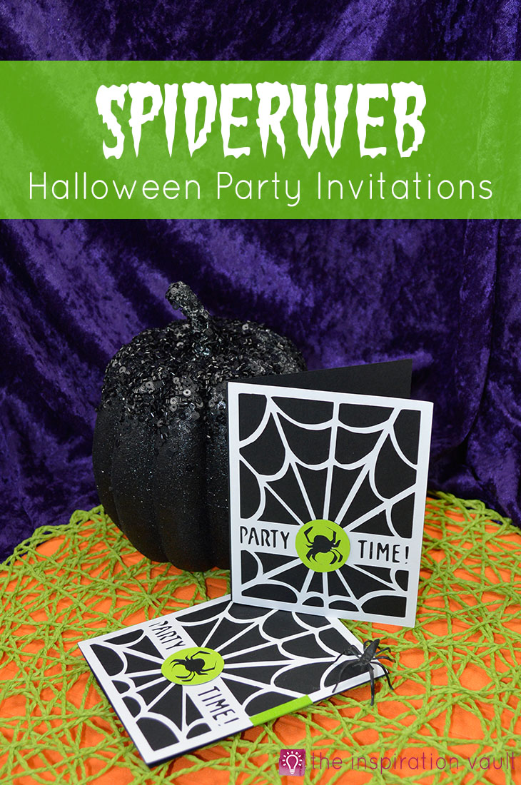 Spiderweb Halloween Party Invitations Cricut Craft Tutorial Handmade Card