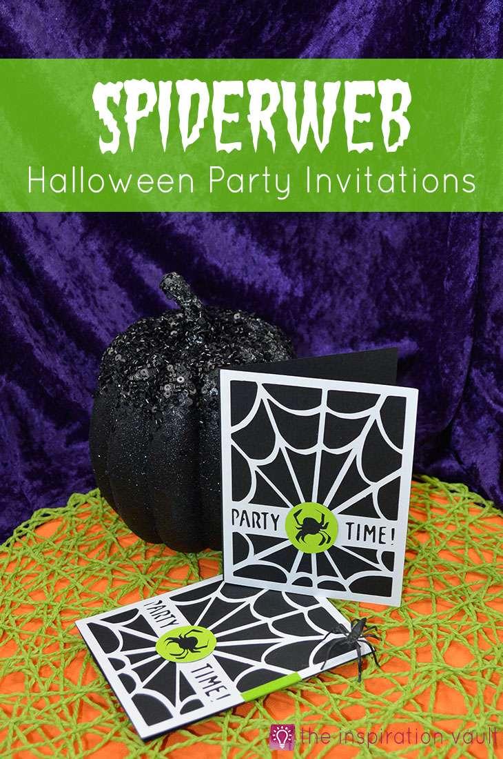 Spiderweb Halloween Party Invitations Cricut Craft Tutorial Handmade Card