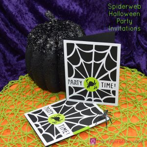 Spiderweb Halloween Party Invitations Feature Image
