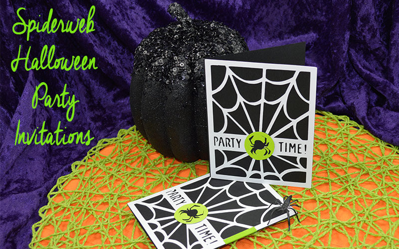 Spiderweb Halloween Party Invitations Slider Image