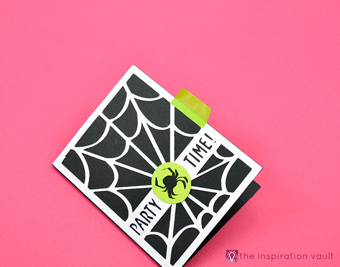 Spiderweb Halloween Party Invitations Step 10
