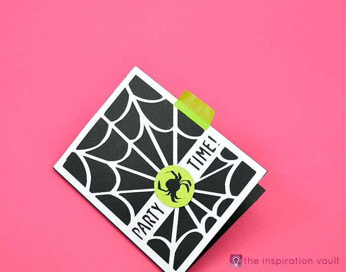 Spiderweb Halloween Party Invitations Step 10