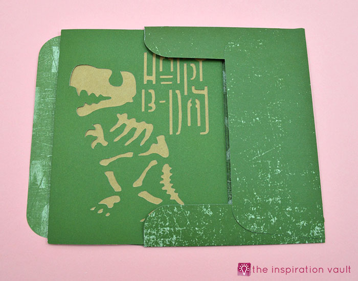 T Rex Fossil Birthday Card Complete