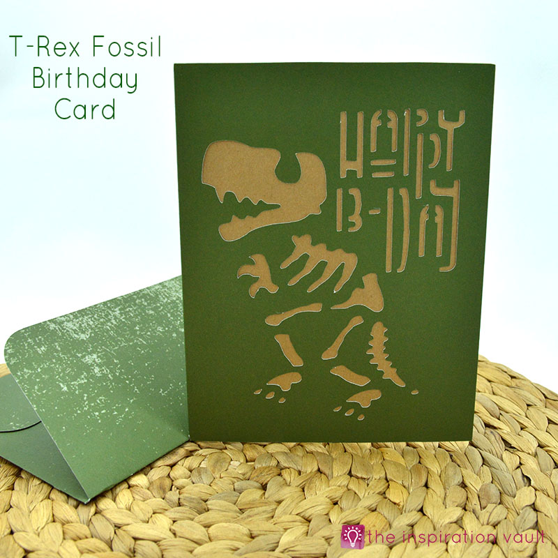 T Rex Fossil Birthday Card Feature Image