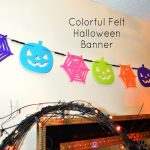 Colorful Felt Halloween Banner