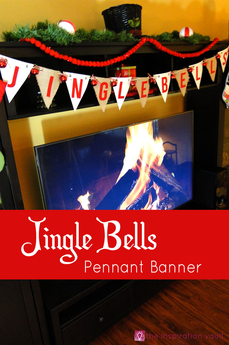 Jingle Bells Pennant Banner Christmas Craft Tutorial