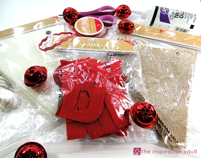 jingle-bells-pennant-banner-materials