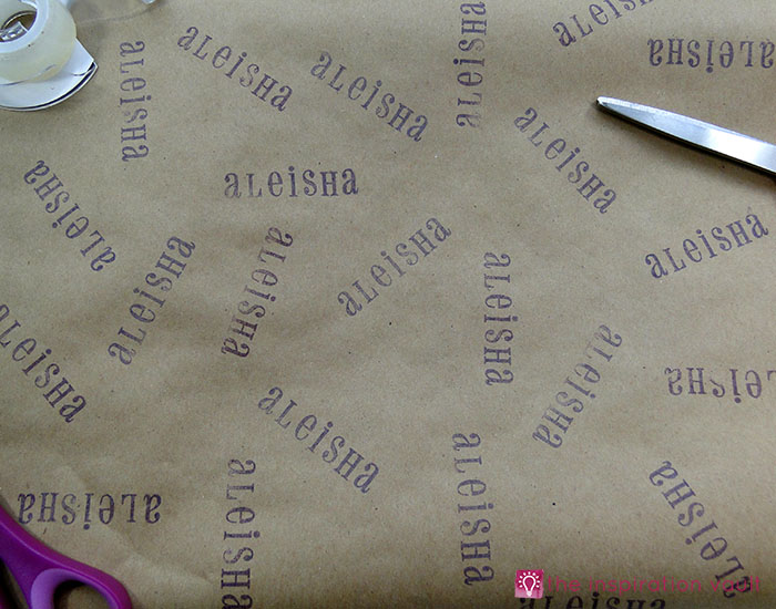 personalized-brown-paper-gift-wrap-step-3b