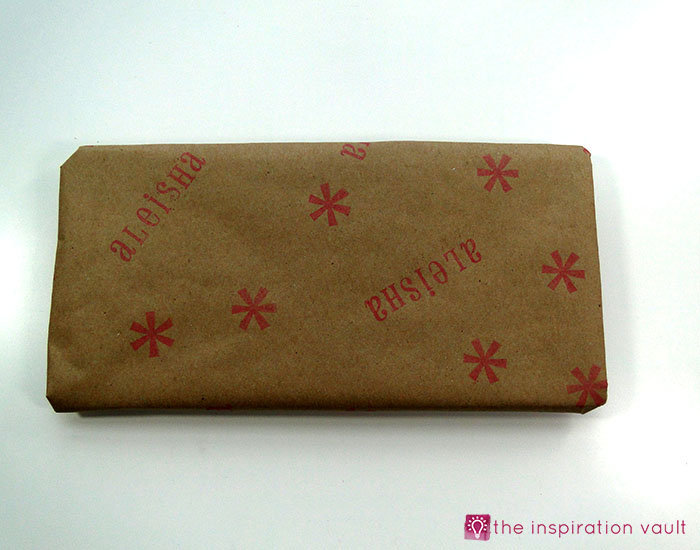 personalized-brown-paper-gift-wrap-step-5a