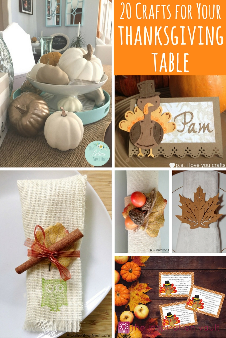 20 Crafts for Your Thanksgiving Table Round Up