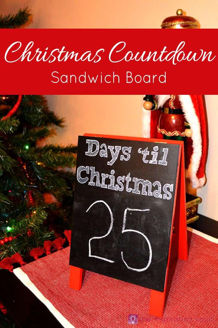 Christmas Countdown Sandwich Board Craft Tutorial