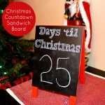 Christmas Countdown Sandwich Board