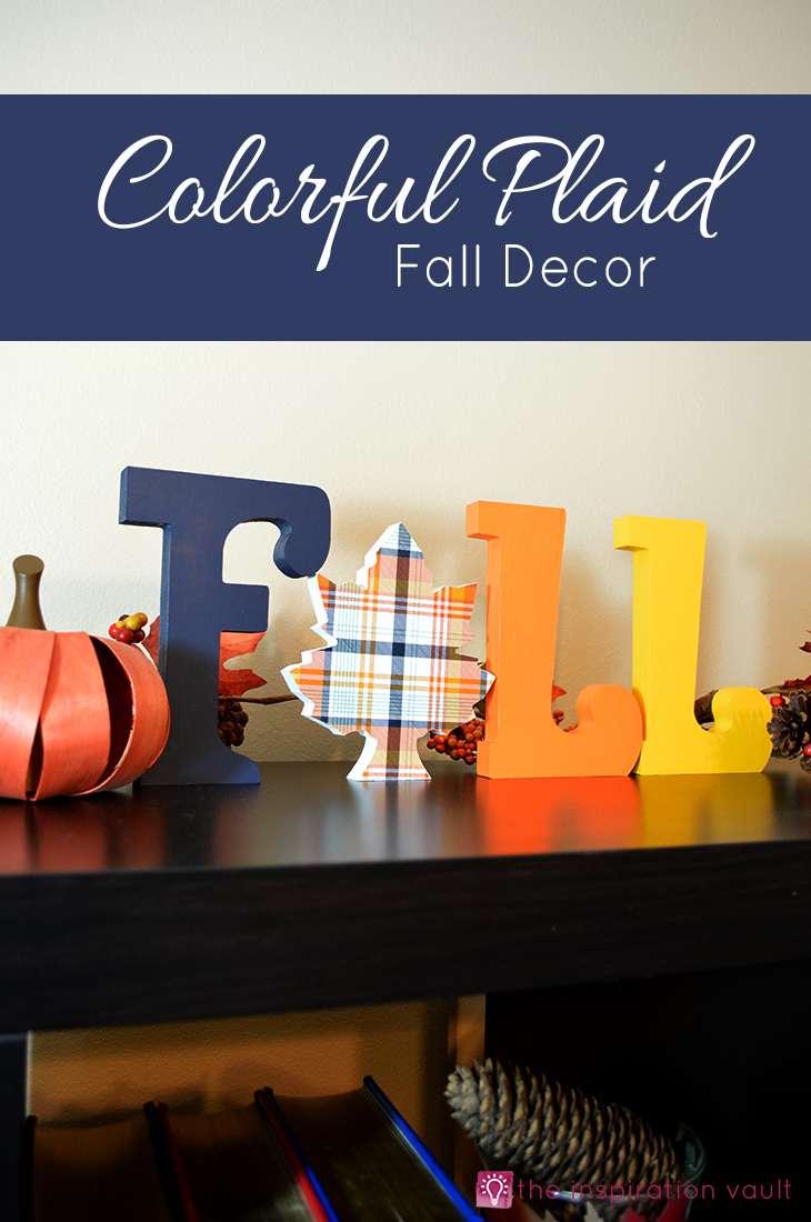 Colorful Plaid Fall Decor Craft Tutorial