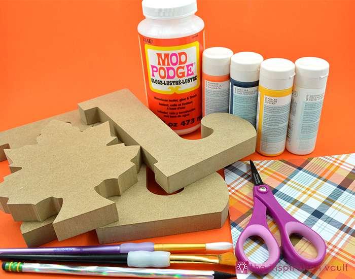colorful-plaid-fall-decor-materials