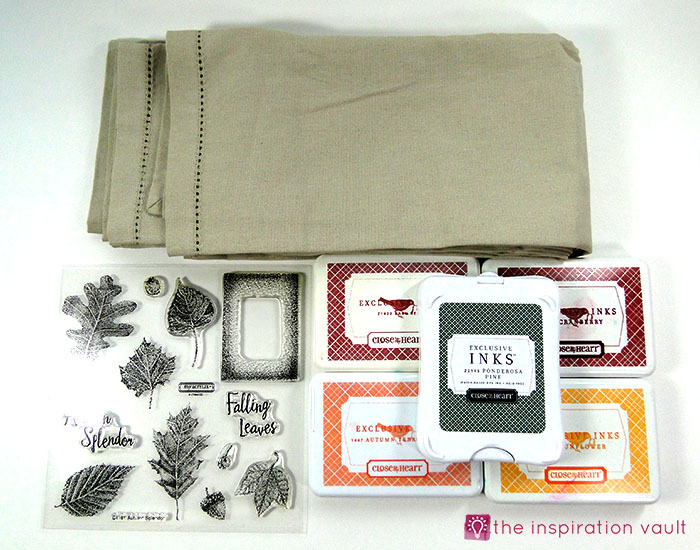 fall-leaf-stamped-cloth-napkins-materials