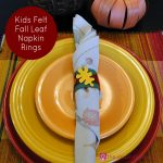 Kids Felt Fall Leaf Napkin Rings