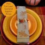 Mini Fall Leaf Garland Napkin Rings