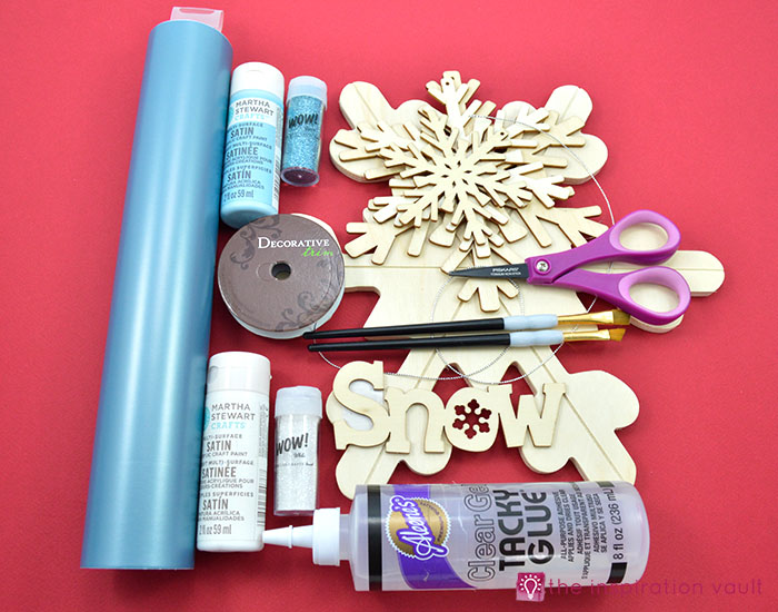 sparkly-snowflake-decor-materials