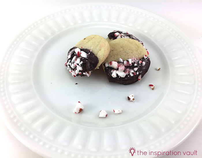 Quick Chocolate Peppermint Dipped Sugar Cookies 1