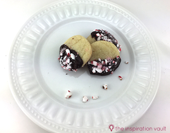 Quick Chocolate Peppermint Dipped Sugar Cookies 2