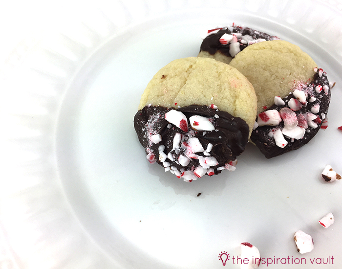 Quick Chocolate Peppermint Dipped Sugar Cookies 3