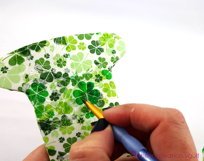 Luck Shamrock Decoration Step 7b